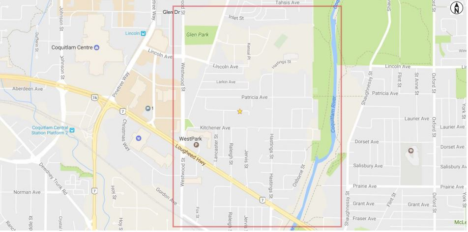 Crime Hotspot: Coquitlam River to Westwood North of Lougheed