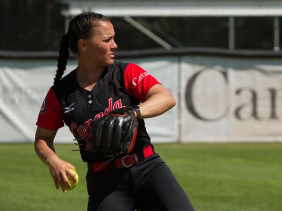 PoCo's Stalling Leads Canada in Softball