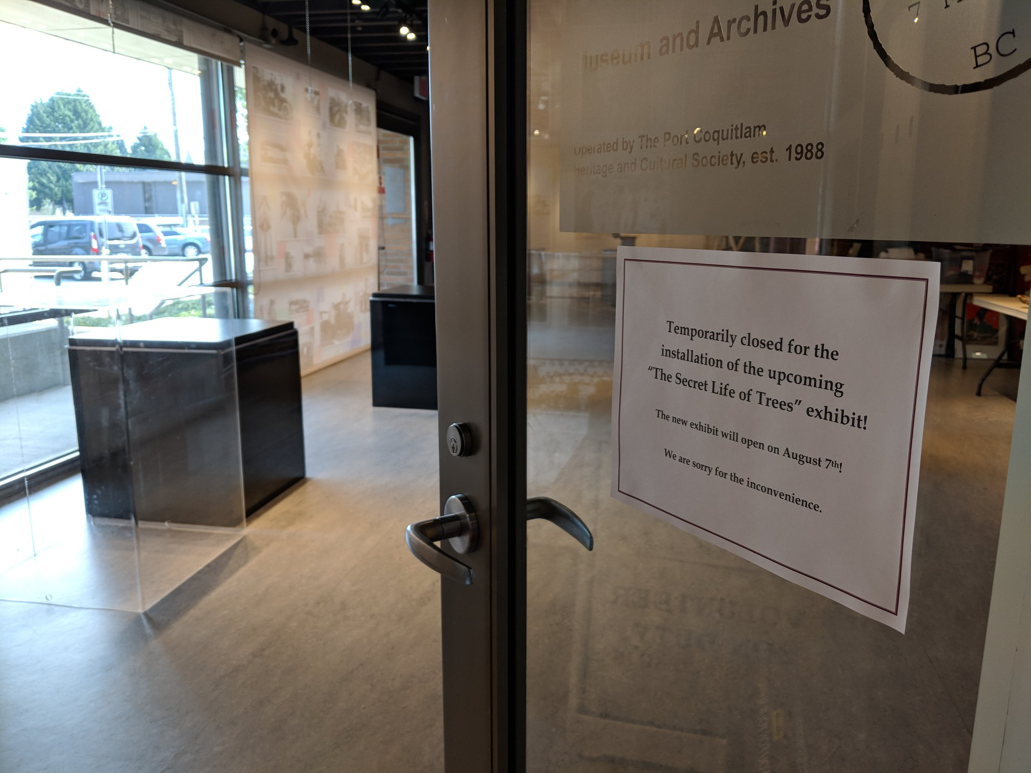 Museum Closed Until August 7th