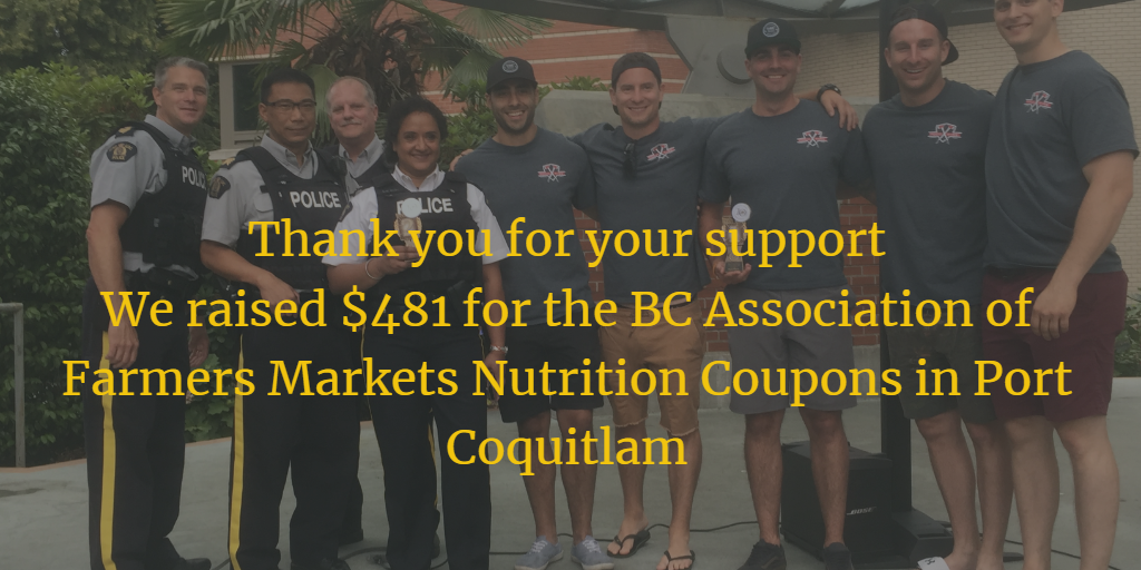 RCMP and Firefighters Raise Money at Farmers Market