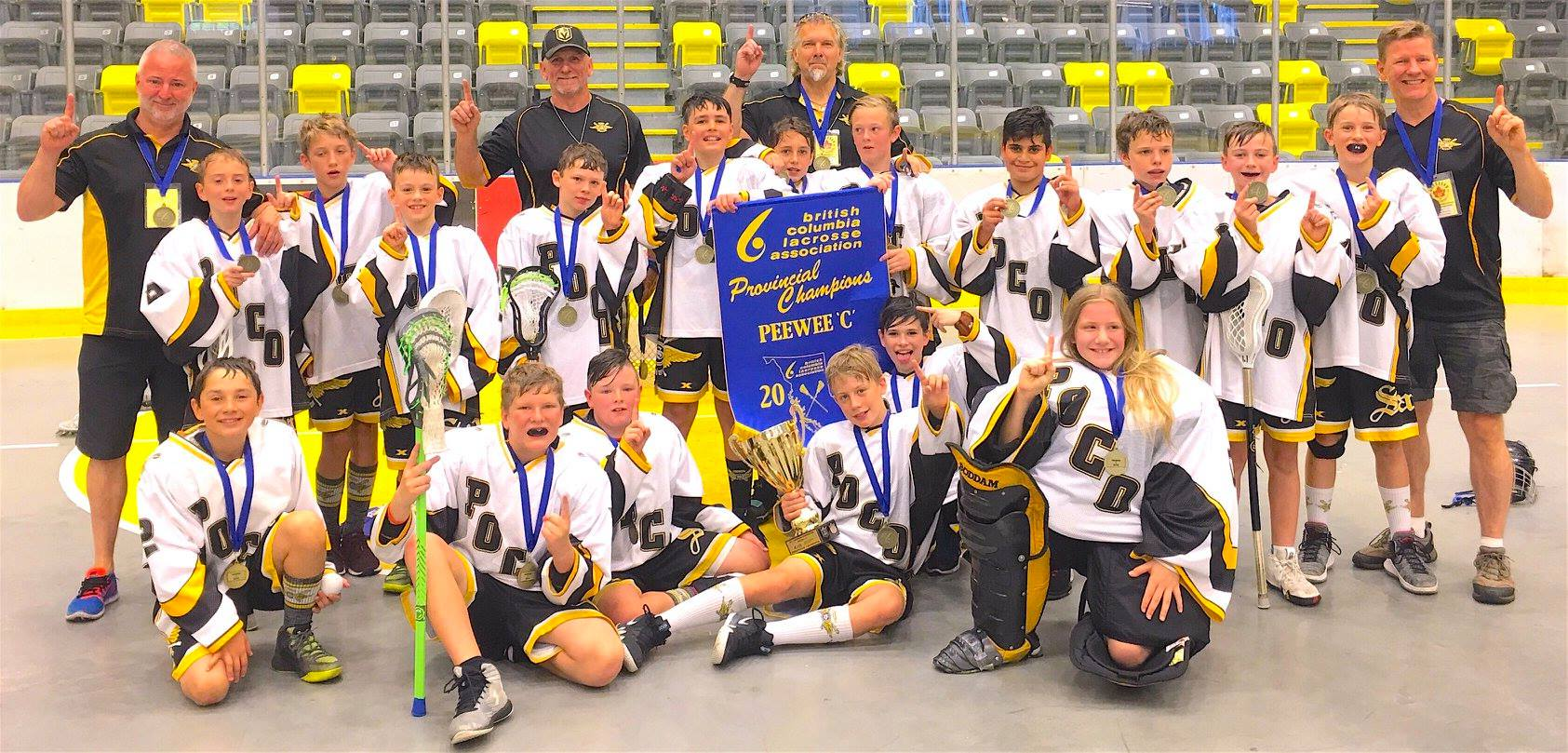 Pee Wee Saints Win BC Provincial Box Lacrosse Title