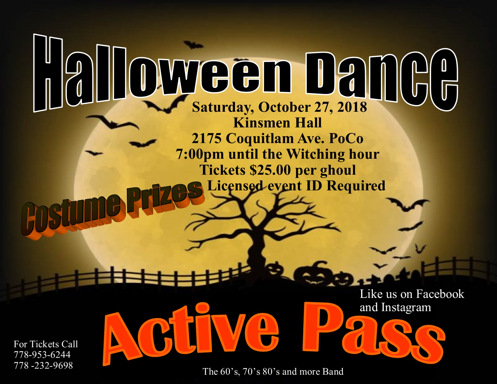 Halloween Monster's Ball with Active Pass Oct. 27th