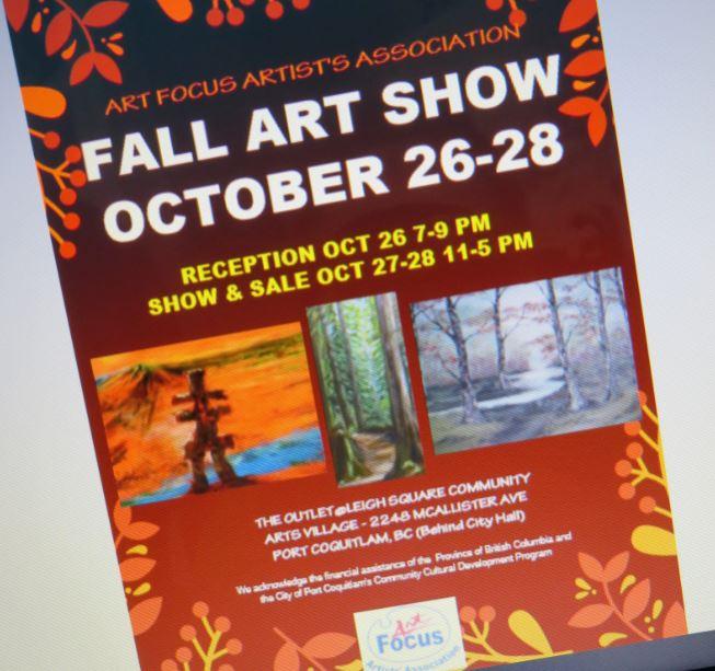 Art Focus Fall Art Show Oct 26 – 28