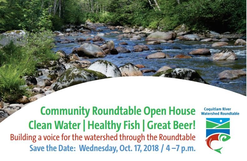 Coquitlam River Watershed Roundtable Open House Oct. 17th