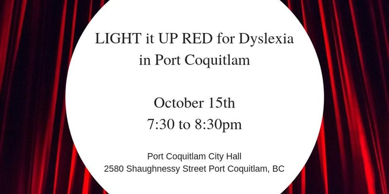 Light it up RED for Dyslexia Oct. 15th