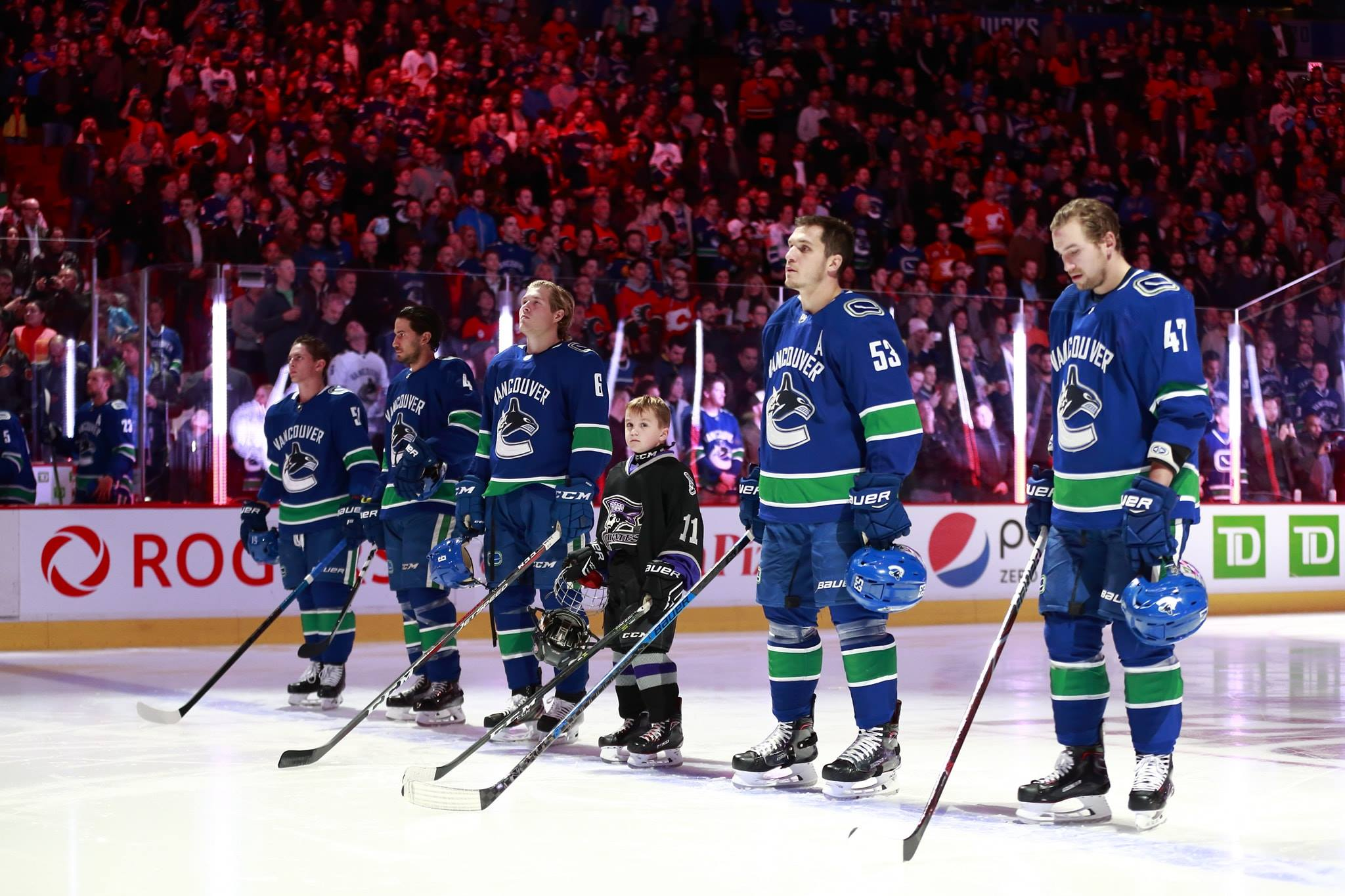 PoCo Pirate's Cash Elliot with the Canucks!