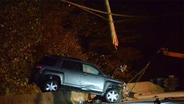 SUV Hits Pole Leaving 3200 Without Power