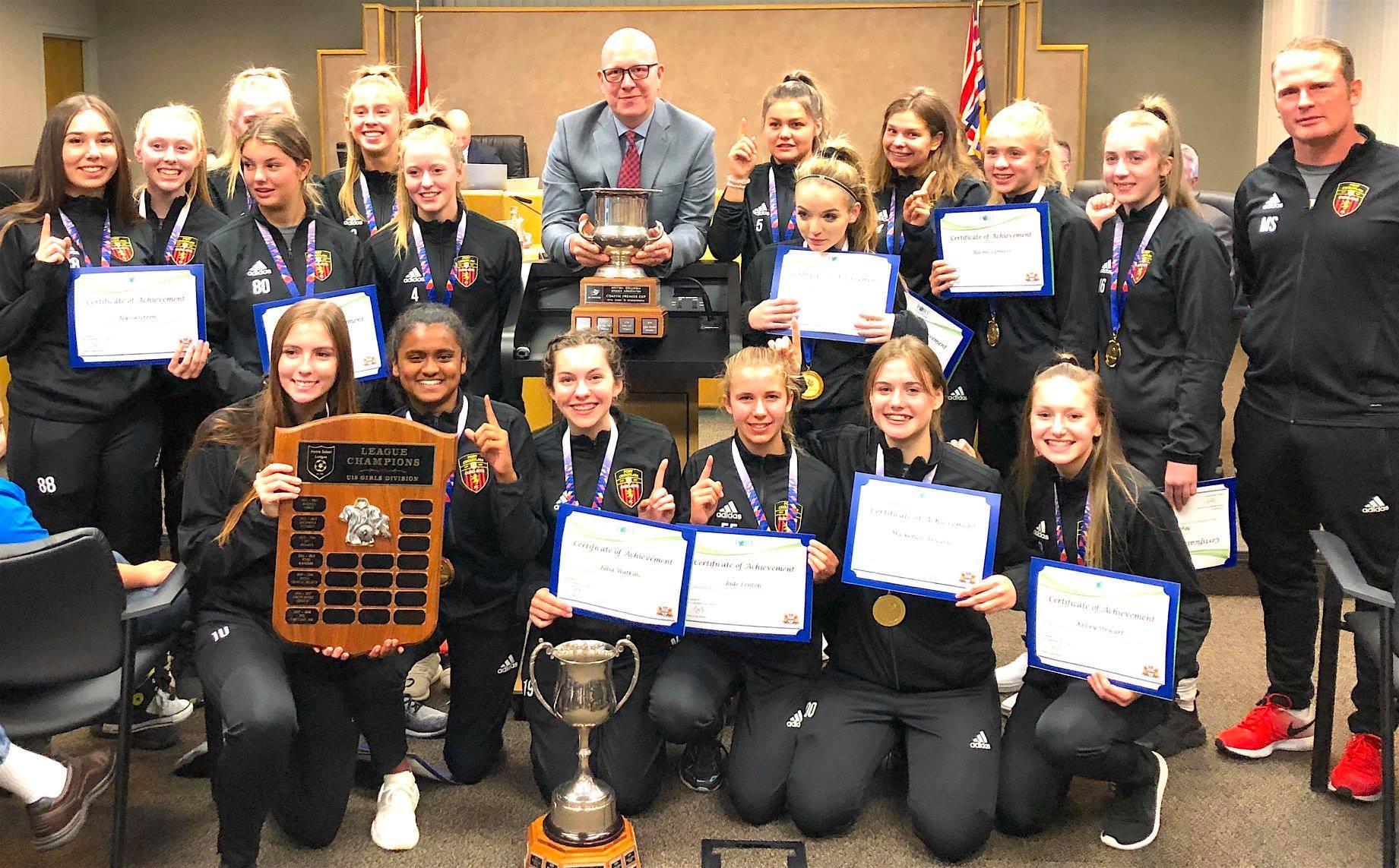 PoCo Euro-Rite FC – U15 Honoured by City Council