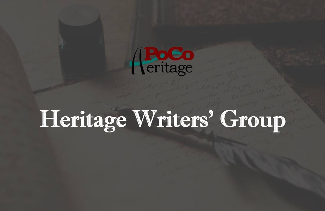 Heritage Writers' Group Oct. 15th