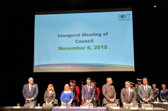 New Port Coquitlam Mayor and Council Inuagurated