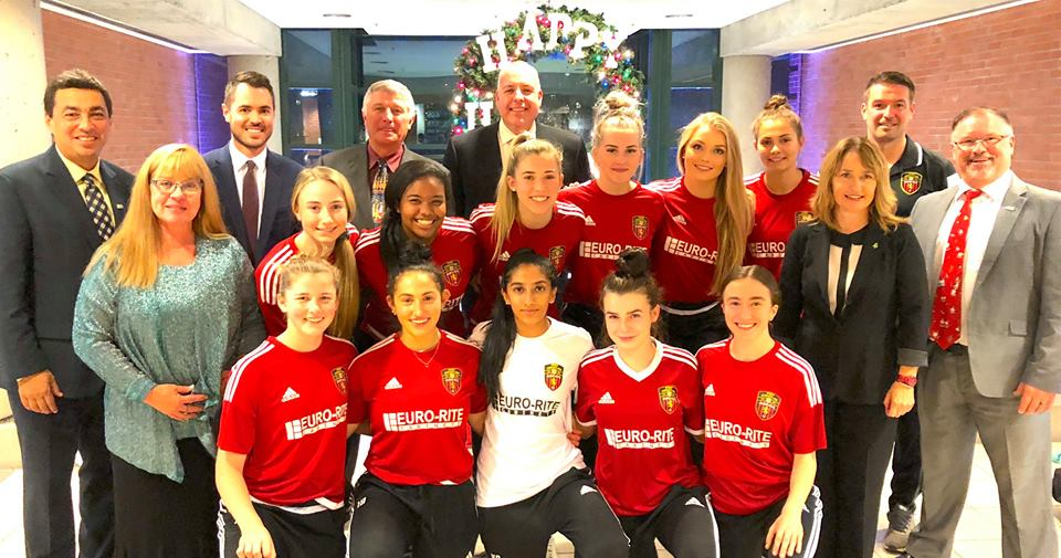PoCo Euro-Rite FC U17 Girls Recognized for 2018 Provincial Title