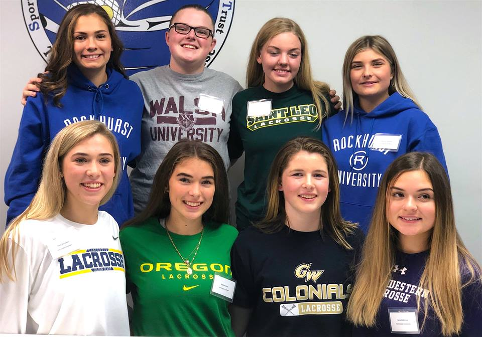 8 PoCo Saints Girls Sign NCAA Scholarships