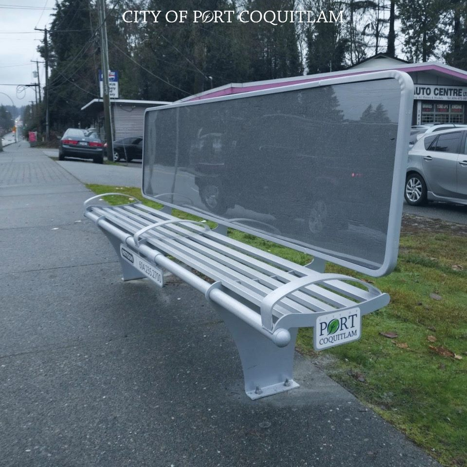 Watch for New Bus Benches in Port Coquitlam