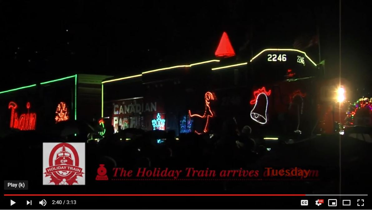 CPR Holiday Train Promo Video by Tri-Cities TV