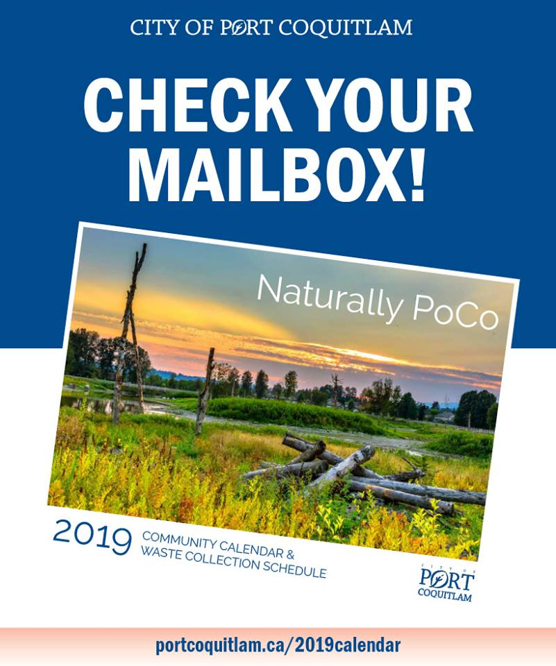 Watch Your Mailbox for Scenic Port Coquitlam 2019 Calendar