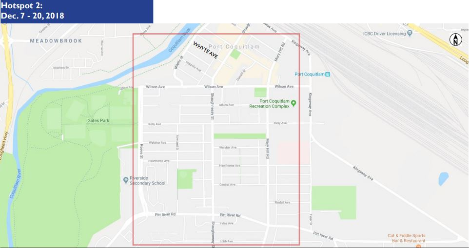 Dec. 7 – 20 CompStat Alert Dowtown Port Coquitlam