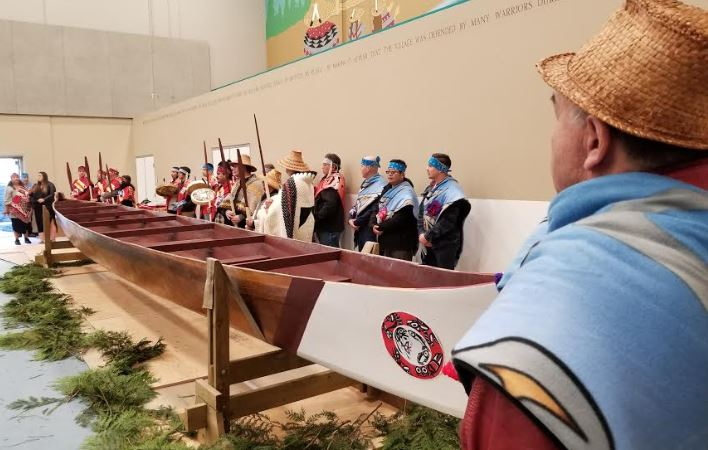 Kwikwetlem First Nation Presents Ocean-Going Canoe to Province of BC